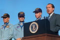 President Richard Nixon speaks before awarding the Apollo 13 astronauts the Presidential Medal of Freedom.jpg