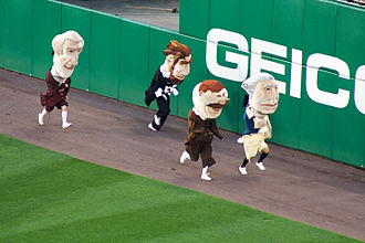 Mascot race - The Washington Nationals' racing presidents