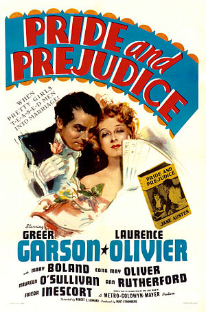 Pride and Prejudice (1940 film) - Theatrical release poster