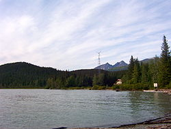 Primrose waterfront seen from Chugach National Forest campground