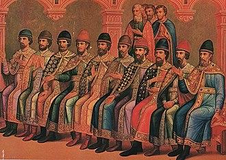 Family life and children of Vladimir I - Prince Vladimir Svyatoslavovich with sons