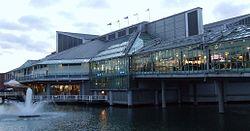 Princes Quay Shopping Centre built over Princes Dock.