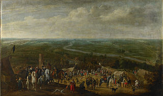 Prince Frederik Hendrik at the siege of 's-Hertogenbosch, 1629