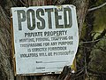 Private Property sign on Dividend Road in Dividend, Utah, May 16.jpg