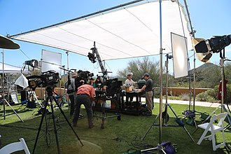 Maryland Public Television - On location in Tucson, Arizona shooting Steven Raichlen's Project Smoke at the Marriott Starr Pass Resort in February 2015