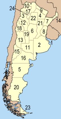 Argentina-Administrativ inddeling-Fil:Provincias de Argentina
