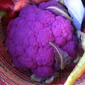 Anthocyanin - Purple cauliflower contains anthocyanins