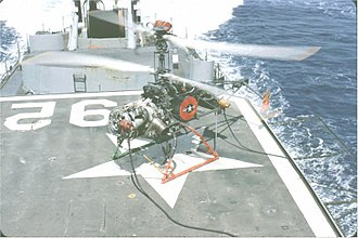 Coaxial rotors - A QH-50 on board the destroyer USS Allen M. Sumner (DD-692) during a deployment to Vietnam between April and June 1967
