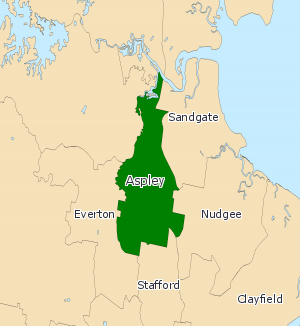 Electoral district of Aspley - 2008 map of Aspley