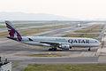 Qatar Airways, QR802, Airbus A330-202, A7-ACB, Arrived from Doha, Kansai Airport (16577208593).jpg