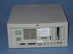 Macintosh Quadra 650 - Rear view of a Macintosh Quadra 650