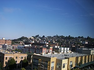 Queen Anne, Seattle - View of the south slope from Lower Queen Anne