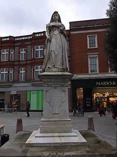 Statue of Queen Victoria, Reading statue in Reading, Berkshire, England