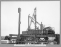 Queensland State Archives 3448 Main Bridge erection stage 2 erecting vertical at first panel point of anchor arm Brisbane 11 October 1937.png