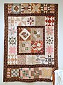 Quilt, Charlestown, Massachusetts, 1837-1838, cotton, muslin - Concord Museum - Concord, MA - DSC05852.JPG