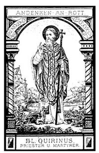 Nicasius, Quirinus, Scubiculus, and Pientia - St. Quirinus of Malmedy