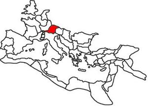 Raetia - Province of Raetia highlighted.