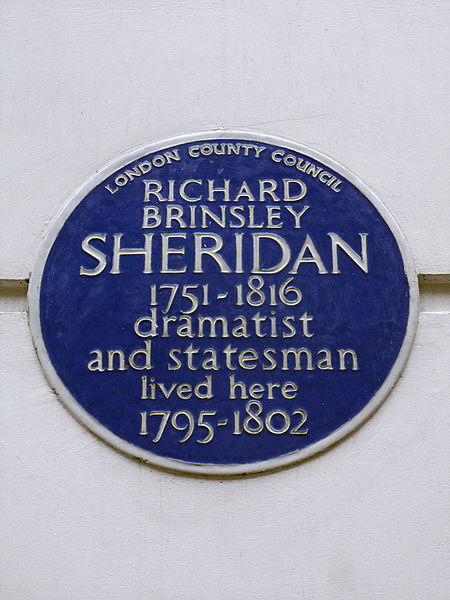 File:RICHARD BRINSLEY SHERIDAN 1751-1816 dramatist and statesman lived here 1795-1802.JPG