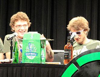 Michael Jones (actor) - Michael Jones and Gavin Free on the Achievement Hunter panel at RTX 2014