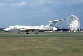 Royal Air Force - The Handley Page Victor bomber was a strategic bomber of the RAF's V bomber force used to carry both conventional and nuclear bombs.