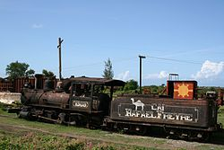 Train on the land of Rafael Freyre's  sugar cane factory