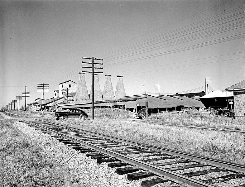 File:Railroad Crossing, Texas and Pacific Railway Company ... Pacific Railway Company