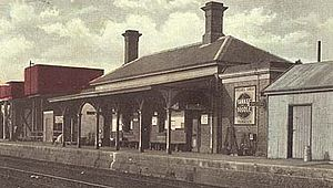Scone railway station - The station c.1900