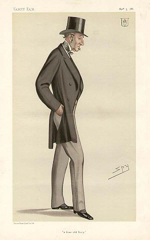 "Rainald Knightley, 1st Baron Knightley - ""a fine old Tory"" Knightley as caricatured by Spy (Leslie Ward) in Vanity Fair, November 1881"