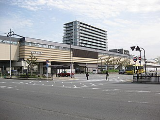 Rakusaiguchi Station - West side of the station, April 2016