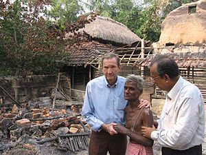 Purba Medinipur district - Ramsey Clark visiting Nandigram