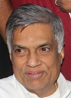 Ranil Wickremesinghe Former - Prime Minister of Sri Lanka
