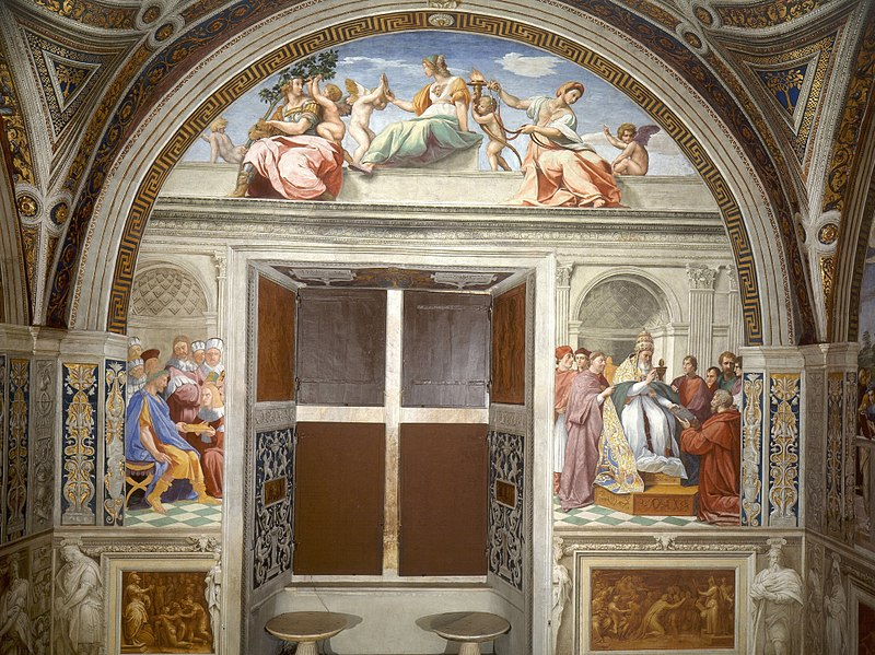 Cardinal and Theological Virtues by Raphael, 1511
