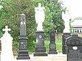 Ratkovo, Old gravestones from catholic graveyard.jpg
