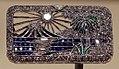 Raymond yard, spilla in platino, diamanti, zaffiri, onici e smeraldi, new york 1925 ca.jpg