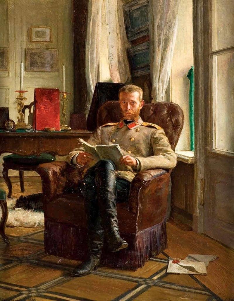 Чтение. Сергей Александрович Русский К. Лемох (1886, коллекция ВСТО).jpg