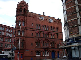 1–7 Constitution Hill, Birmingham - Red Palace from Hampton Street taken 2006