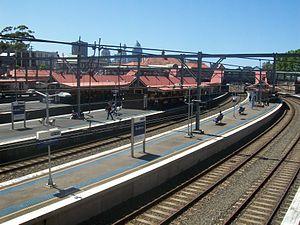 Redfern railway station - Northbound view from Platform 10 in October 2011