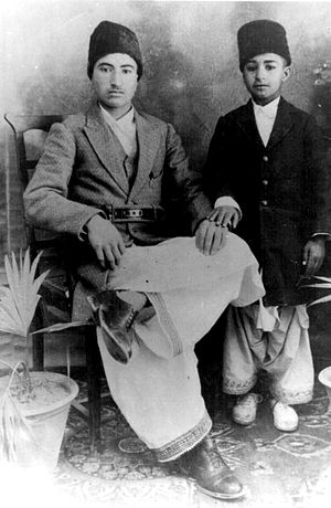 Shahzada Rehmatullah Khan Saddozai - Shahzada Rehamatullah Khan Durrani with Half Brother Abdul Rasheed Khan Durrani 17 January 1931