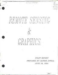 Remote sensing & graphics : staff report