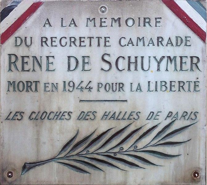 Gedenkplaat René Deschuymer in Gent