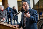 Representative Keith Ellison speaking in support of DACA at Hennepin County Government Center Minneapolis, MN (38853963404).jpg
