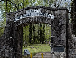 Gateway to the Resaca Confederate Cemetery