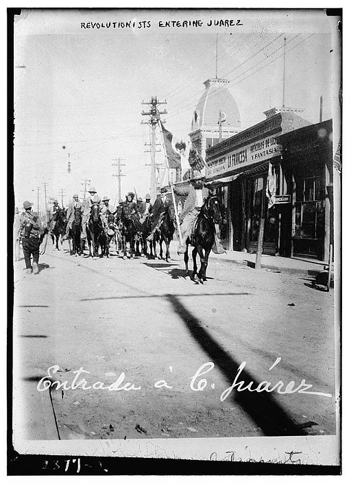 Revolutionists entering Juarez (LOC)