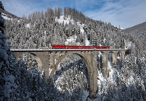 RhB Ge 4-4 II Wiesener Viadukt