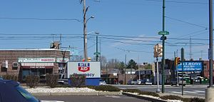 Rhawnhurst, Philadelphia - The intersection of Rhawn Street and Castor Avenue in Rhawnhurst
