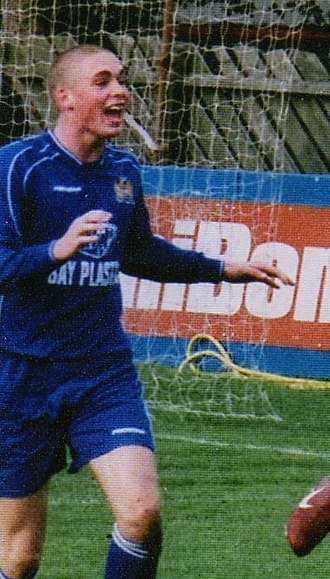 Richard Brodie (footballer) - Brodie celebrates a goal with Newcastle Benfield in 2006