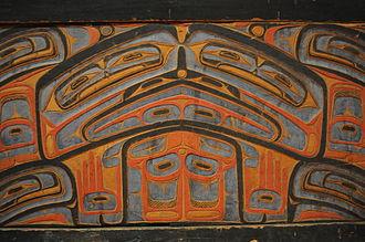 Heiltsuk - Richard Carpenter bent-wood chest detail 01