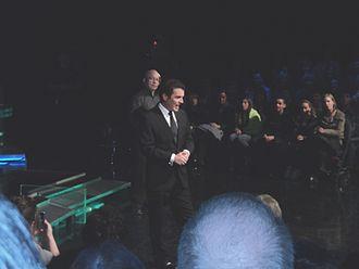 Rick Mercer Report - Image: Rick Mercer and floor director