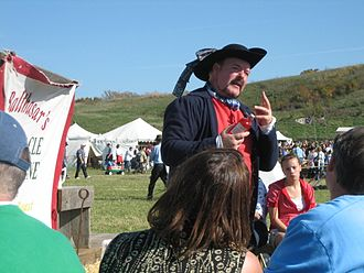 Medicine show - A reenactment of a medicine show in Ringwood, Illinois