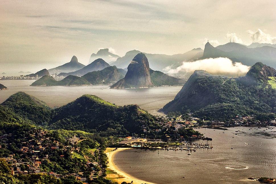 Rio de Janeiro visto do Parque da Cidade, em Niterói